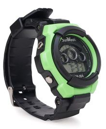 Digital Wrist Watch - Black Green