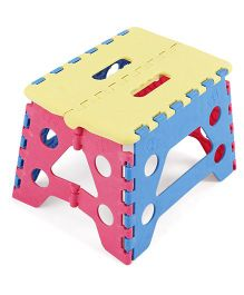 Folding Baby Stool - Yellow Blue Pink