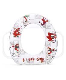 Babyhug Soft Potty Seat With Handle - White Red