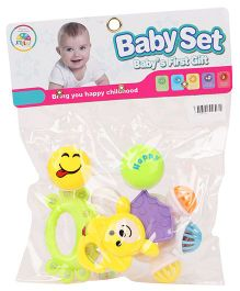 Smiles Creations Rattle Set Pack of 4 (Color May Vary)