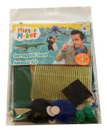 Mister Maker Corrugated Card Animals Kit - Multicolor
