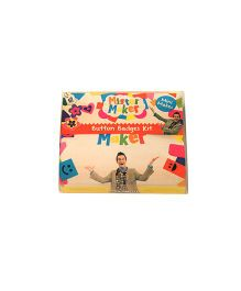 Mister Maker Button Badges Kit - Multicolor