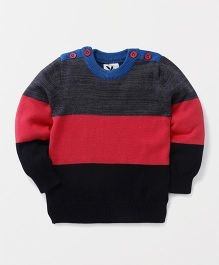 Yellow Apple Full Sleeves Pullover Sweater - Black & Red