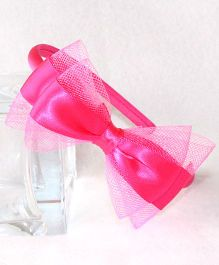 Tia Hair Accessories Bow Hairband - Pink