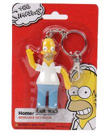 Simpsons Homer Bendable Action Figure Key Chain - Yellow