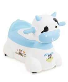 Animal Shape Musical Baby Potty Chair - White Blue