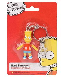 Simpsons Bendable Action Figure Key Chain - Yellow