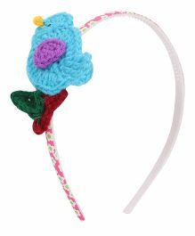 Soulfulsaai Crochet Bird Hair Band - Light Blue