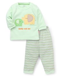 Child World  Winter Wear Suits With Daddy & Me Embroidered - Green
