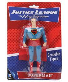 DC Comics Justice League New Frontier Superman Bendable Figure Blue - 14 cm