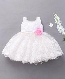 M'Princess Sleeveless Party Wear Dress - White