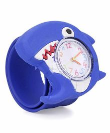 Analog Wrist Watch Dolphin Shape - Dark Blue