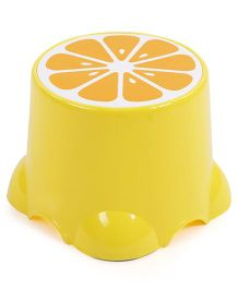 Baby Stool Fruit Print - Yellow