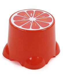 Baby Stool Fruit Print - Orange