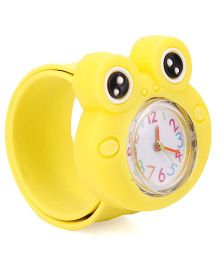 Analog Wrist Watch Frog Shape Dial - Yellow