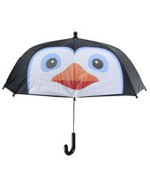 Superfie 3D Penguin Print Umbrella - Black & White