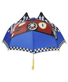 Superfie 3D Racing Car Print Umbrella - Blue