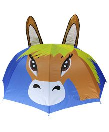 Superfie 3D Horse Print Umbrella - Multicolor