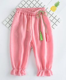 Awabox Lounge Pants With Tassels - Pink