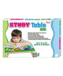 Annie Study Table Big With Printed Top - Multicolor