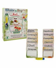 Annie 2 In 1 Water And Dry Fruits And Vegetable - 12 Cards Multi-Color