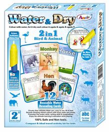 Annie 2 In 1 Water And Dry Bird And Animal - 12 Cards
