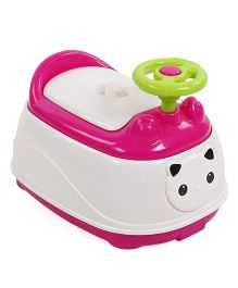 Animal Face Baby Potty Seat - Pink White