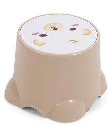 Baby Stool Animal Print - Beige White