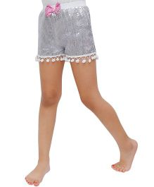 D'chica Disco Love Sequined Shorts - Silver