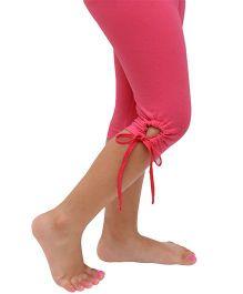 D'chica Chic Key Hole Design Leggings - Fuchsia