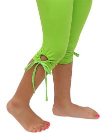 D'chica Chic Key Hole Design Leggings - Green