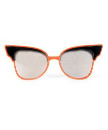 Mauve Collection Stylish Cat Eye Sunglasses - Orange & Black