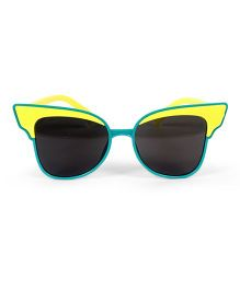 Mauve Collection In Vouge Cat Eye Sunglasses - Yellow & Blue