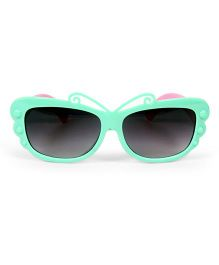 Mauve Collection Butterfly Design Sunglasses - Sea Green & Pink