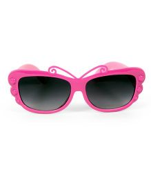 Mauve Collection Butterfly Design Sunglasses - Pink