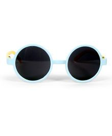 Mauve Collection Round Sunglasses - Sky Blue & Yellow