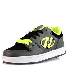 Heelys Casual Shoes with Lace - Neon Yellow & Grey