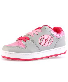 Heelys Casual Shoes with Lace - Grey & Pink