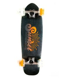 Sunset Skateboard Co Sand Stone Design Skateboard - Black