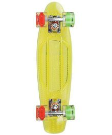 Sunset Skateboard Co Tri Colour Skate Board - Yellow