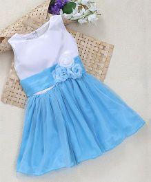 Shu Sam Smith Florence Dress - White & Sky Blue