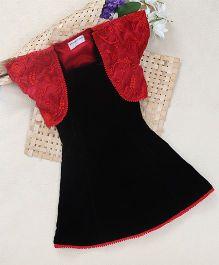 Shu Sam Smith Evangeline Dress With A Shrug - Black