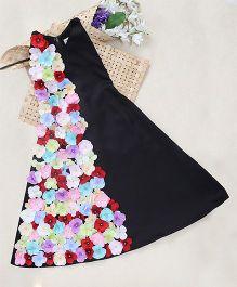 Shu Sam Smith Olga Semi Floral Dress - Black