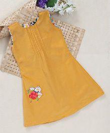 Shu Sam Smith Miya Pleated Dress - Yellow