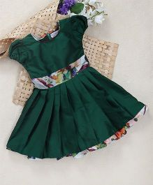 Shu Sam Smith Heidi Pleated Dress With A Belt - Green