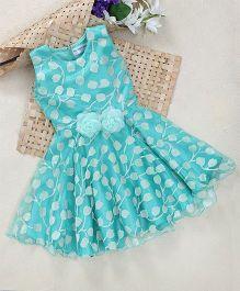 Shu Sam Smith Pollyanna Floral Net Dress - Green