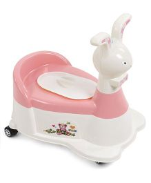 Rabbit Shape Musical Baby Potty Chair (Color May Vary)