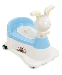 Rabbit Shape Musical Baby Potty Chair - White Blue
