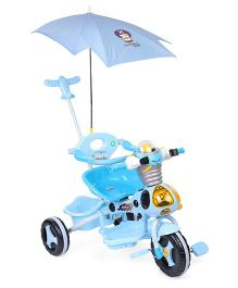 Tricycle With Canopy and Parent Push Handle - Sky Blue