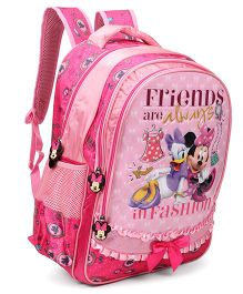 Disney Minnie And Daisy Duck Print School Backpack Pink - 18 Inches